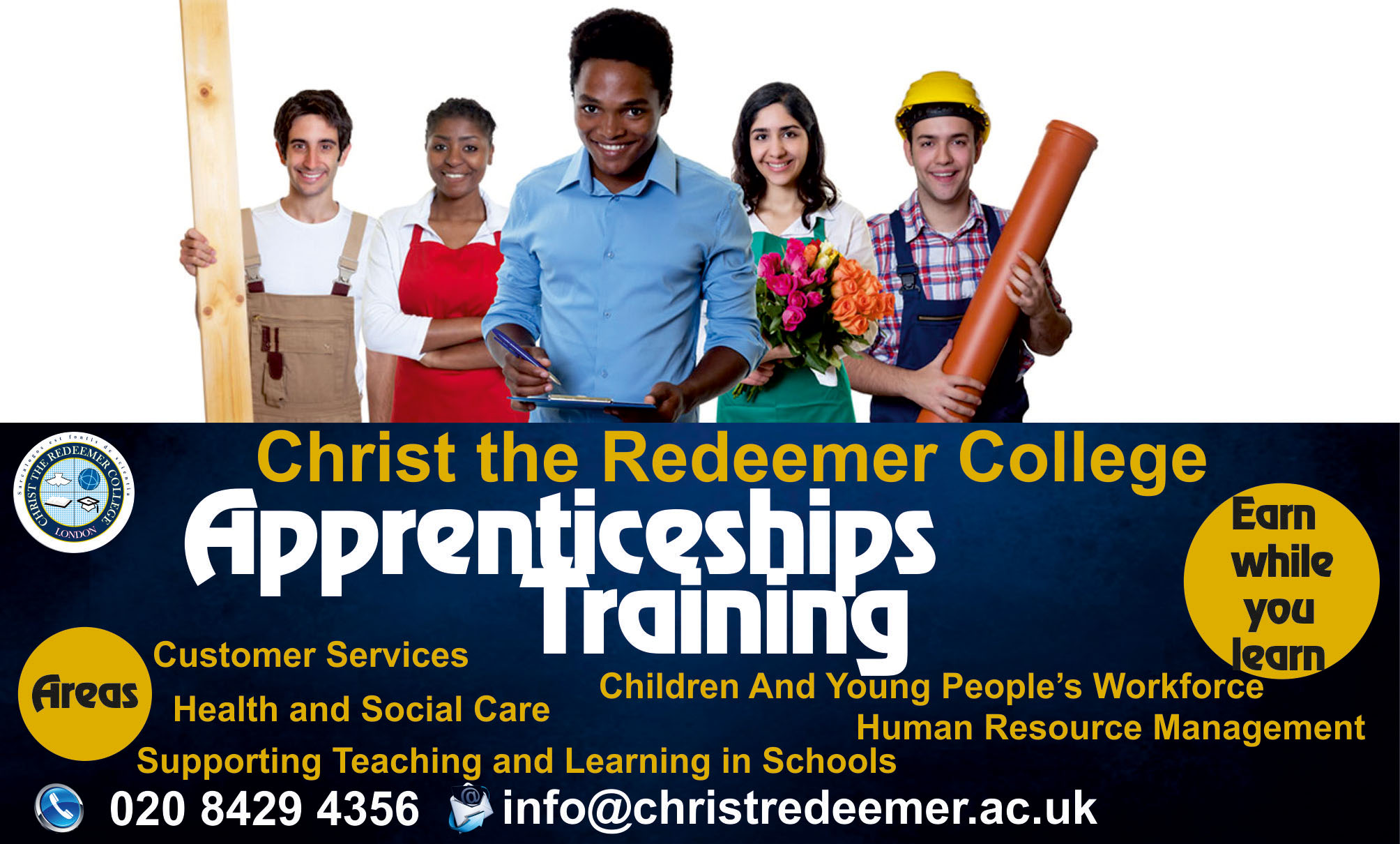 Advert for apprenticeships at CRC