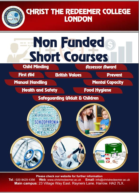 Advert for non-funded vocational courses