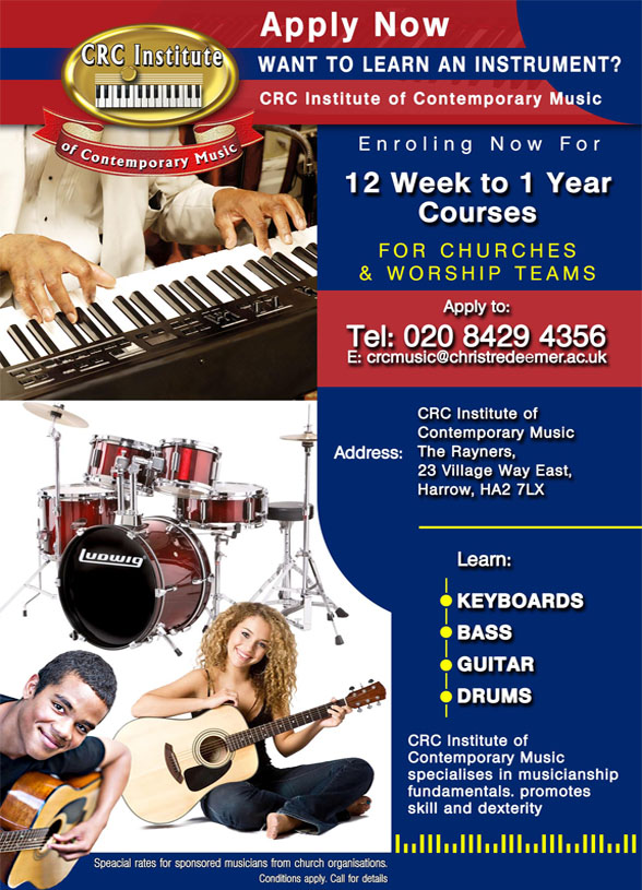 Advert for music courses